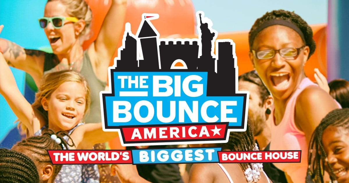 The big bounce america the world 39 s biggest bounce house for How big is america